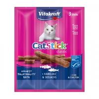(유통기한21.03.26)비타크래프트 고양이 간식 캣스틱 대구 코어피쉬 18g
