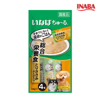 (유통기한21.12.01)이나바 강아지 왕츄루 종합영양식 닭가슴살 치즈 14g 4개