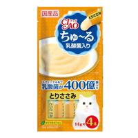 (유통기한21.12.00)이나바 고양이 차오츄르 닭가슴살 유산균(SC-233) 14g 4개입