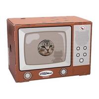 캐티맨 고양이 하우스형 TV 스크래쳐