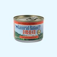 (유통기한21.03.12)내추럴발란스 도그 캔 포뮬라 연어 고구마 습식사료 170g