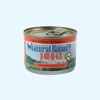 (유통기한21.12.03)내추럴발란스 도그 캔 포뮬라 연어 고구마 습식사료 170g