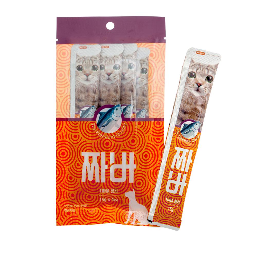 짜바 고양이 유산균 간식 참치