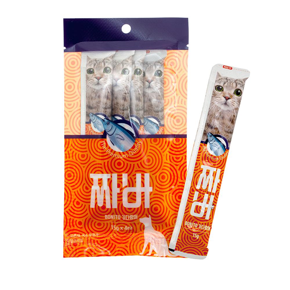 짜바 고양이 유산균 간식 가다랑어