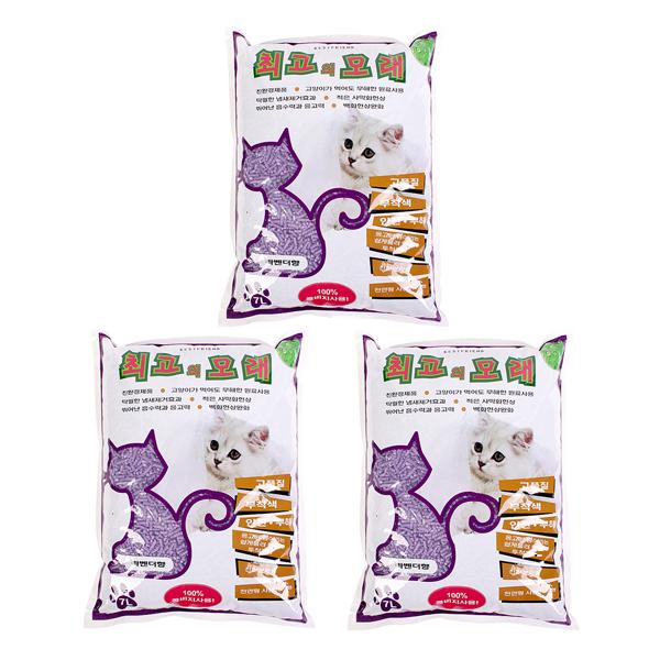 고양이 모래 최고의 모래 7L 라벤더 x3