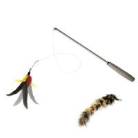 칼리깃털 3단 낚시대 장난감 리필