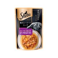 쉬바 고양이 간식 수제 수프 참치 게맛살과 연어 40g
