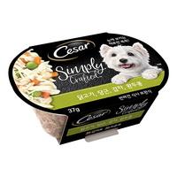 (유통기한21.08.10)시저 심플리 강아지 캔 닭 당근 감자 37g