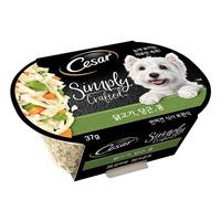 (유통기한21.09.19)시저 심플리 강아지 캔 닭 당근 콩 37g