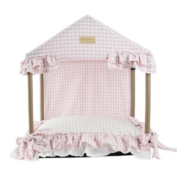 에이미러브즈펫 텐트형 하우스 핑크 세트 M