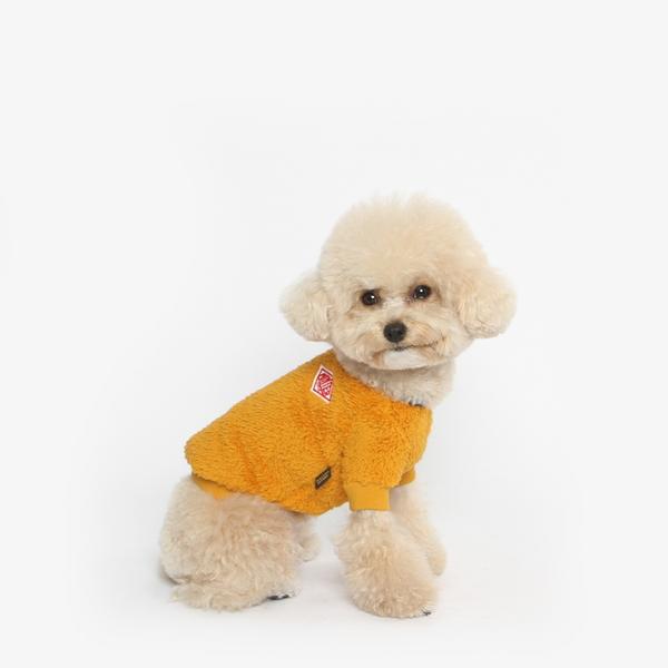강아지 후리스 맨투맨 겨울옷 (옐로우)