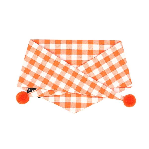 젤라또 폼폼 스카프 (오렌지)