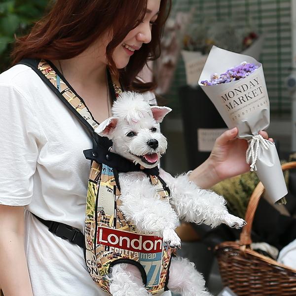 펫데일리 강아지 전용 포대기 트래블 런던