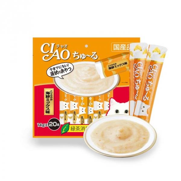 이나바 고양이 간식 챠오츄르 믹스 대용량 20p