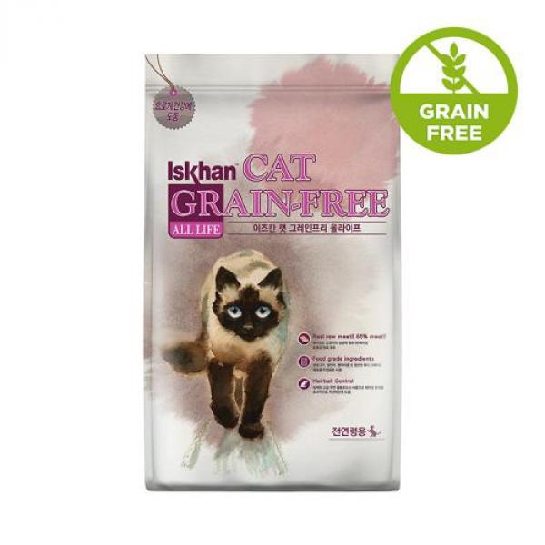 이즈칸 캣 그레인프리 올라이프 6.5kg 고양이 사료