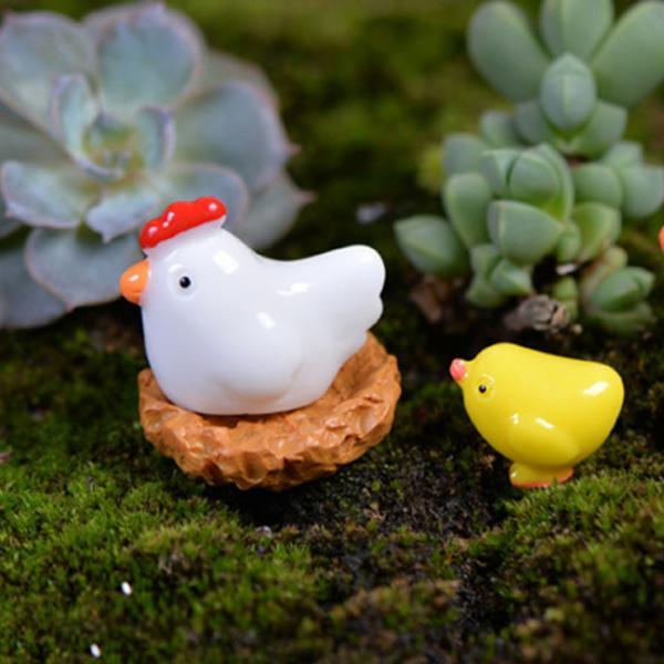 피규어 암탉세트(암탉+둥지+병아리)