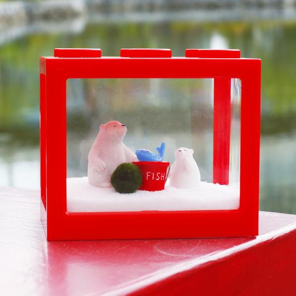 미미네가든 밥먹어요 북극곰 마리모 키우기 세트