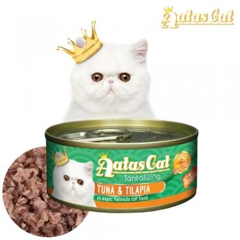아타스캣 고양이 주식 캔 참치와 틸라피아 80g 6개
