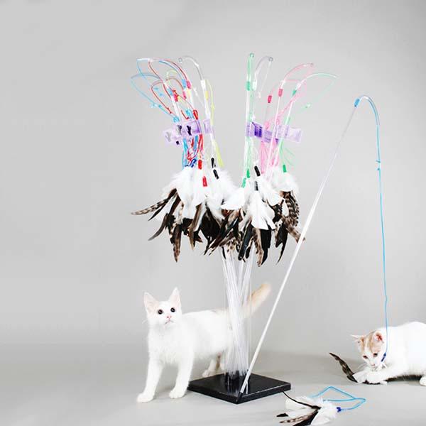 펫맨 고양이 장난감 펄펙트 깃털 낚시대