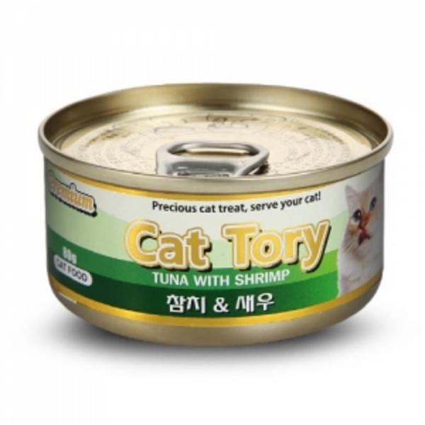 캣토리 고양이 캔 참치새우 80g