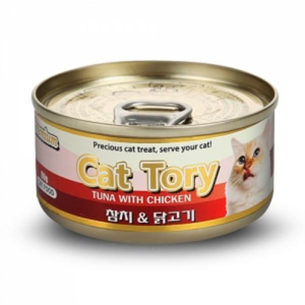 캣토리 고양이 캔 참치닭고기 80g
