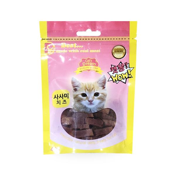 캣츠드림 고양이 간식 사사미 치즈 40g