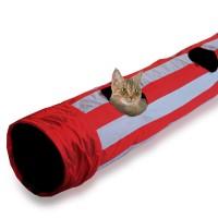 펫라이프 고양이 바스락 터널 2구 레드