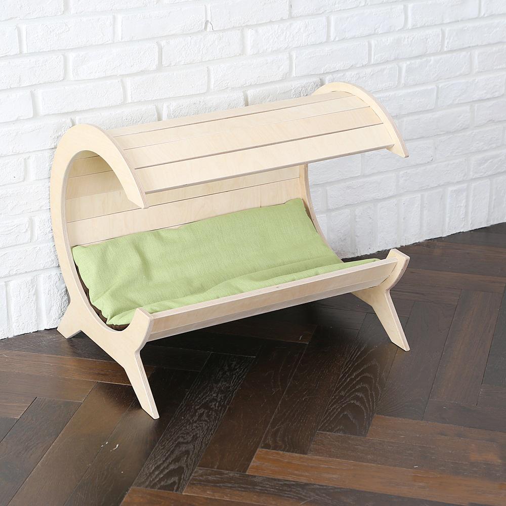 가또블랑코 강아지 고양이 나무 달모양 침대 하우스