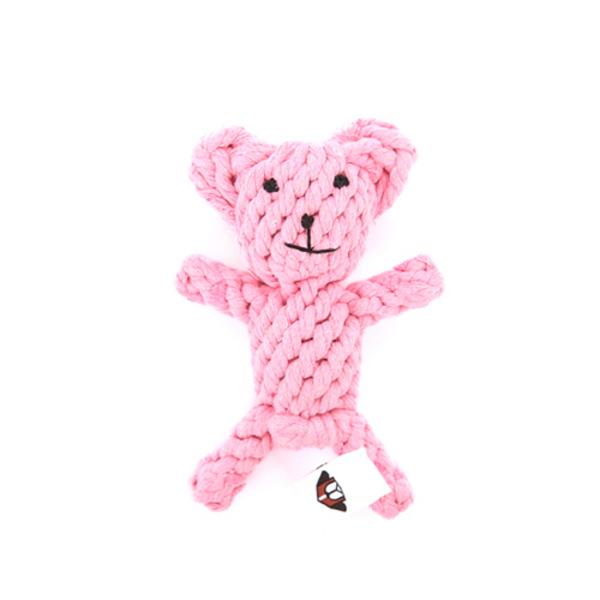 헙스 오가닉 로프 토이 실타래 장난감 핑크베어
