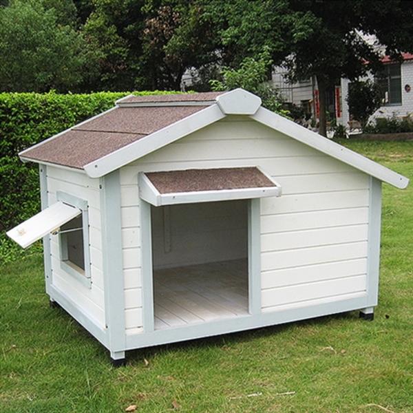 강아지 편백나무 원목 화이트 하우스 대형