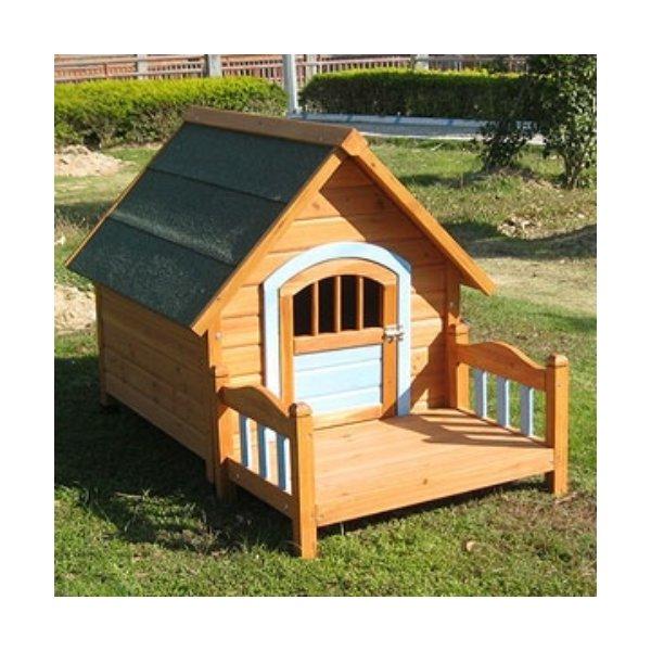 강아지 편백나무 원목 집모양 하우스 대형