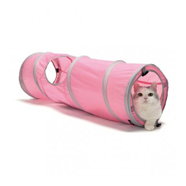 고양이 장난감 스포츠펫 캣터널 핑크