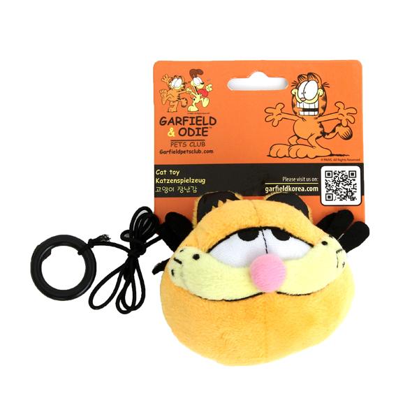 가필드 고양이 캣닢 인형 반지 장난감