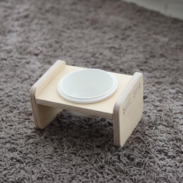까사미코 반려동물 나무 유리 물그릇 기본형 세트