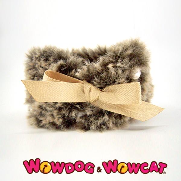 와우독와우캣 뜨개 목도리-보들 브라운