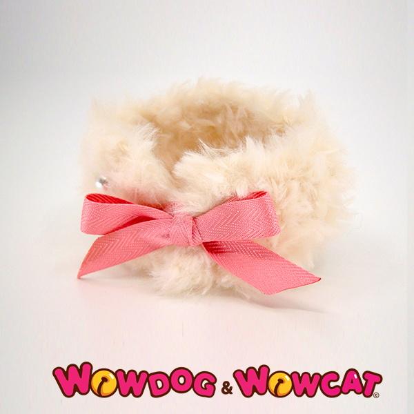 와우독와우캣 뜨개 목도리-보들 화이트