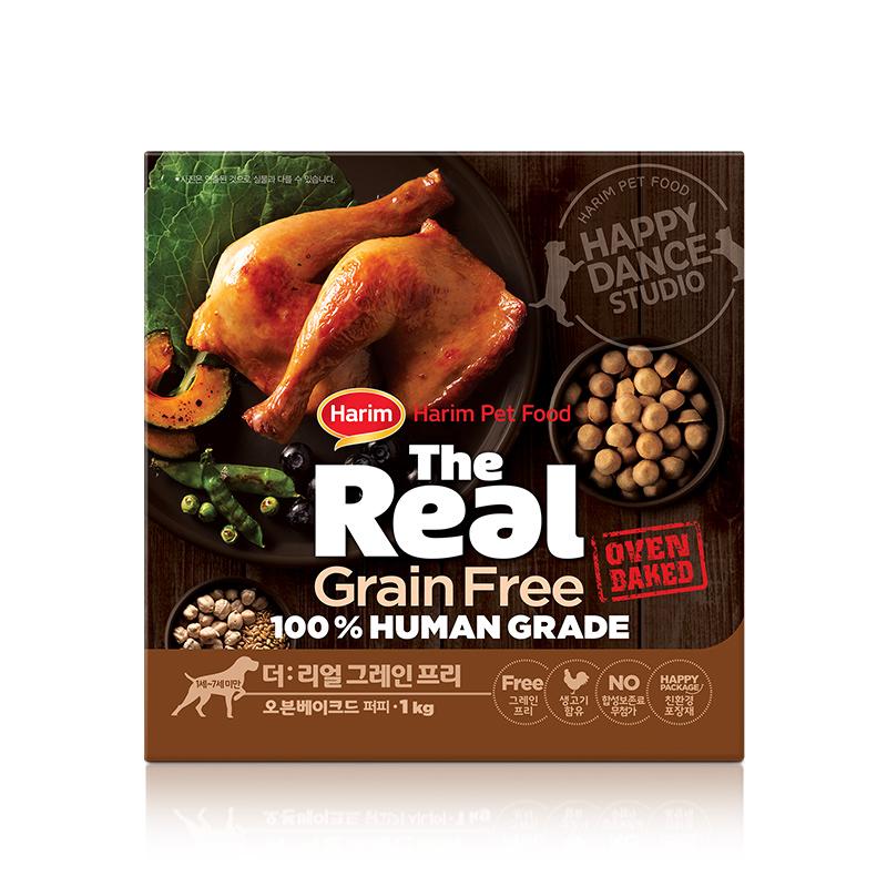 더리얼 그레인프리 오븐베이크드 닭고기 퍼피 사료 1kg