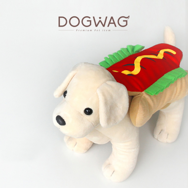 도그웨그 핫도그 코스튬 강아지 옷