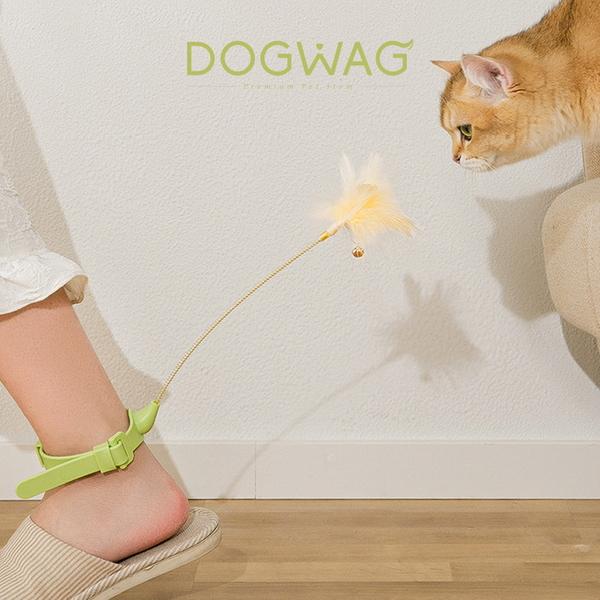 도그웨그 고양이 발목 깃털 낚시대 장난감 강아지풀 오뎅꼬치 롱 스틱