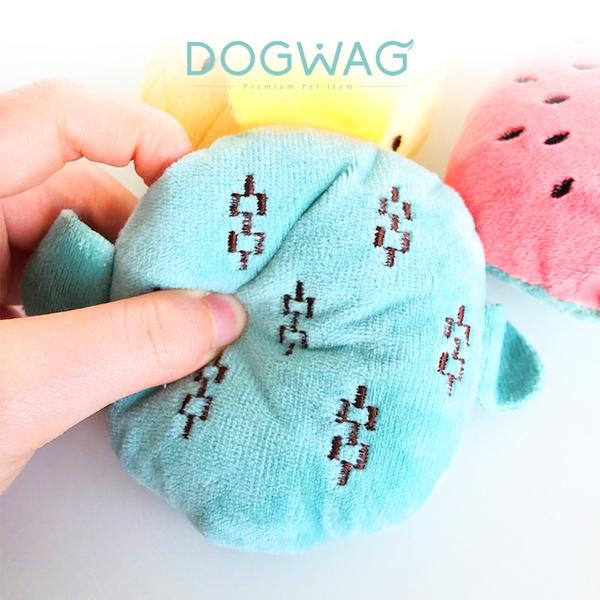 도그웨그 바스락 과일 장난감 강아지 인형 이갈이 소형견 놀이