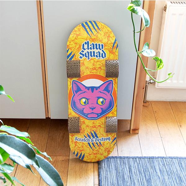 [썩유케이] 스케이트보드 고양이 장난감 캣 스크래쳐