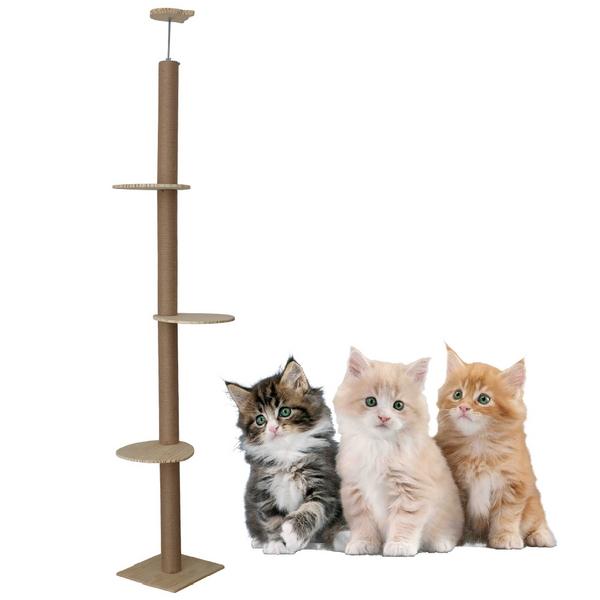 고양이 원목 놀이터 캣폴 캣타워