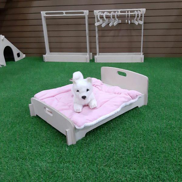 강아지 원목나무 침대