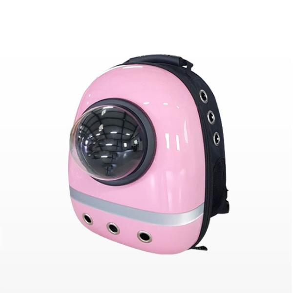 반려동물 이동장 우주선 가방 핑크