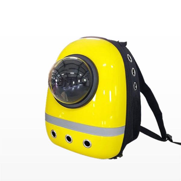 반려동물 이동장 우주선 가방 옐로우