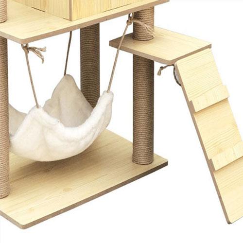 아이핏 고양이 대형 스크래쳐 4단 원목 캣 타워