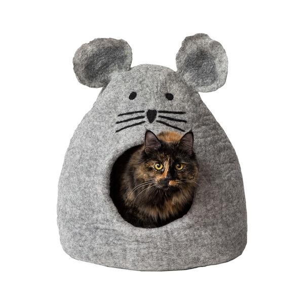 다르마독 카르마캣 생쥐 모양 하우스 (Light gray)