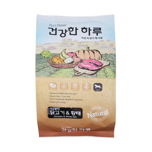 펫츠프라임 강아지 사료 건강한 하루 닭고기 황태 1kg