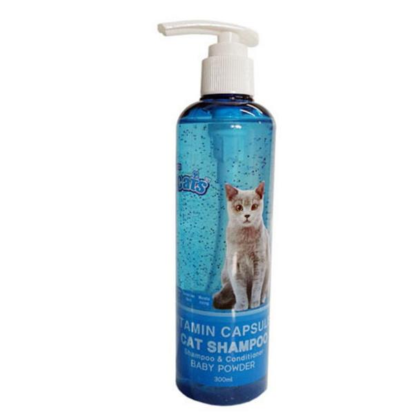 더캣츠 고양이 비타민 캡슐 샴푸 베이비파우더향