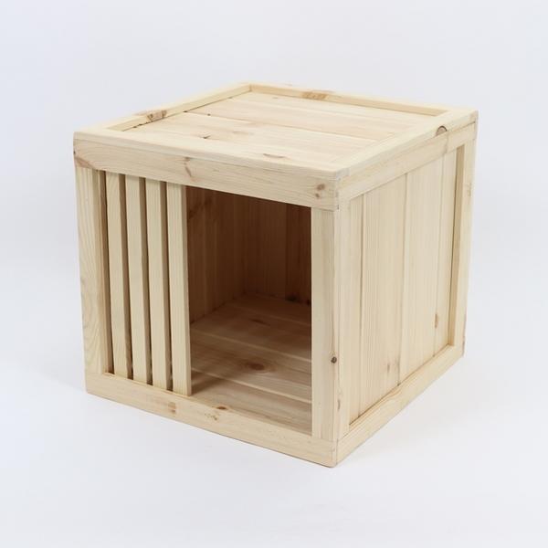 원목 강아지집 box type A 소형 (무도장)